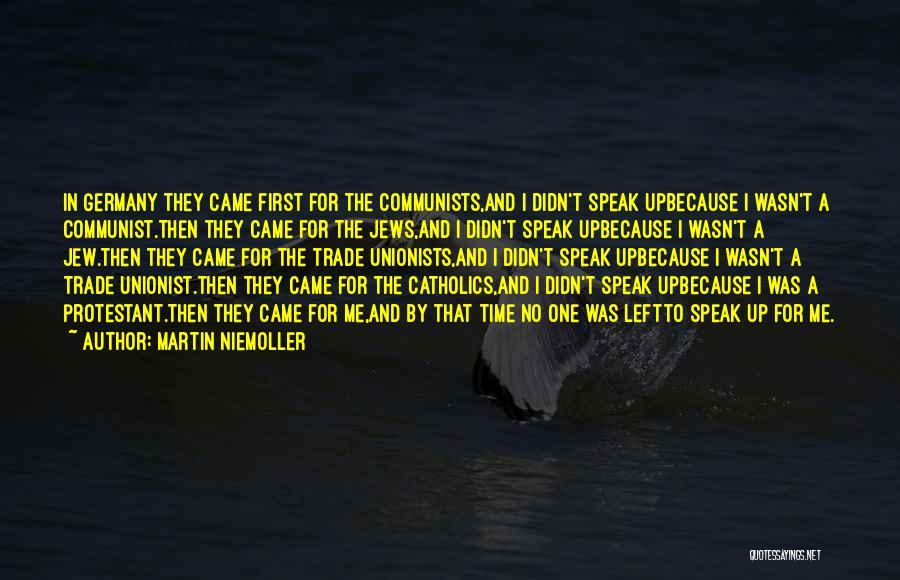 Communist Quotes By Martin Niemoller