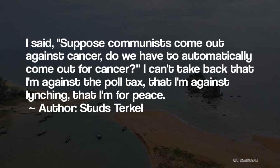 Communist Quotes By Studs Terkel