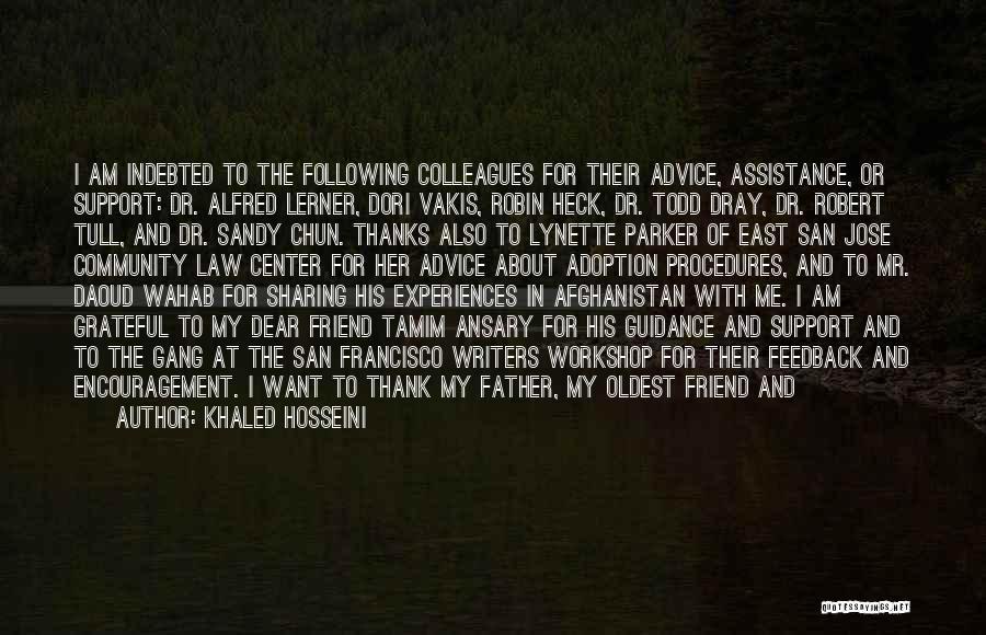 Community Assistance Quotes By Khaled Hosseini