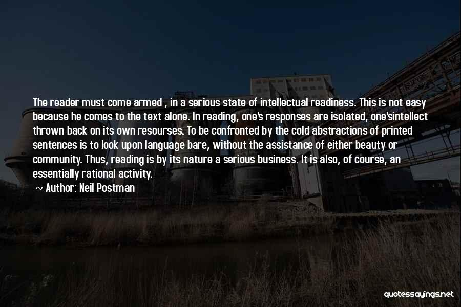 Community Assistance Quotes By Neil Postman
