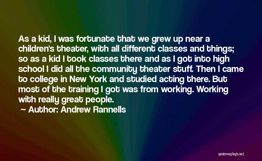 Community College Quotes By Andrew Rannells