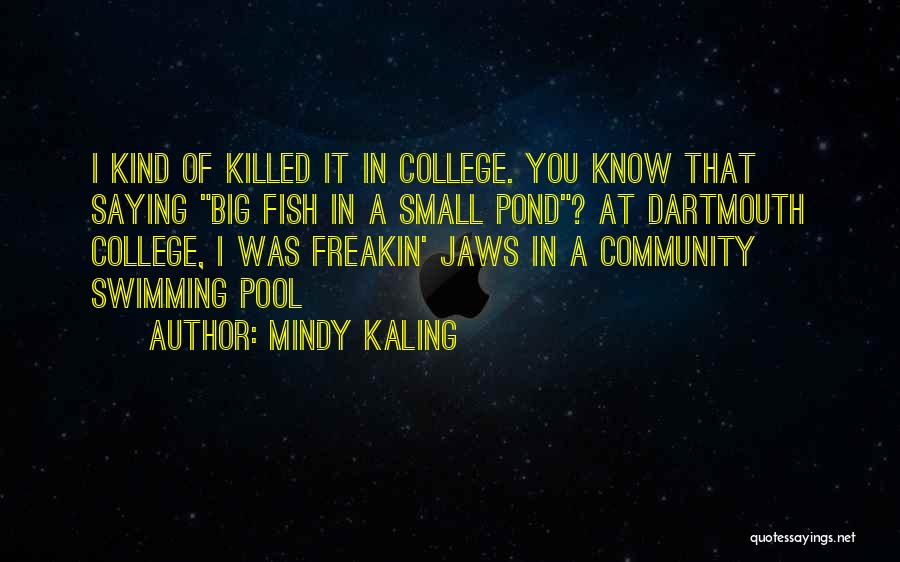 Community College Quotes By Mindy Kaling