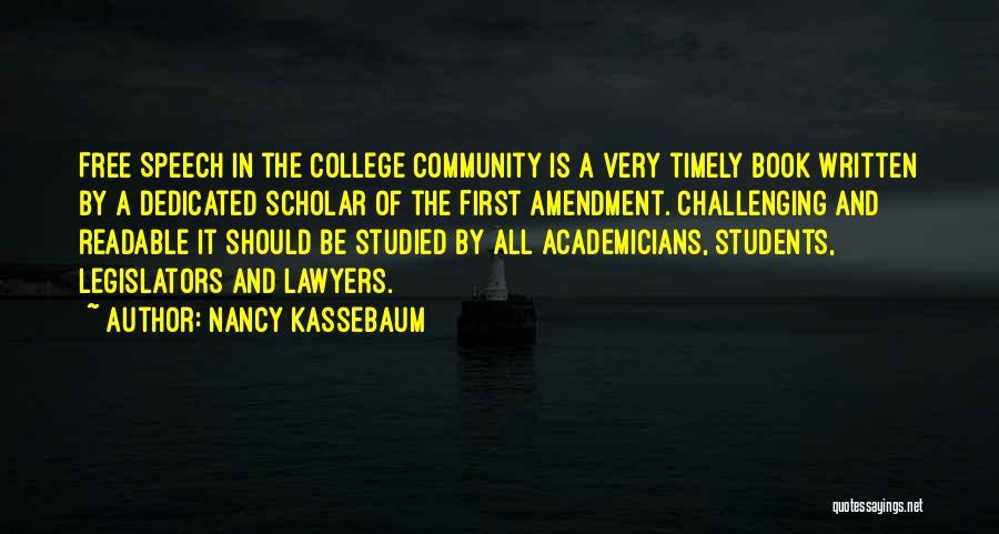Community College Quotes By Nancy Kassebaum