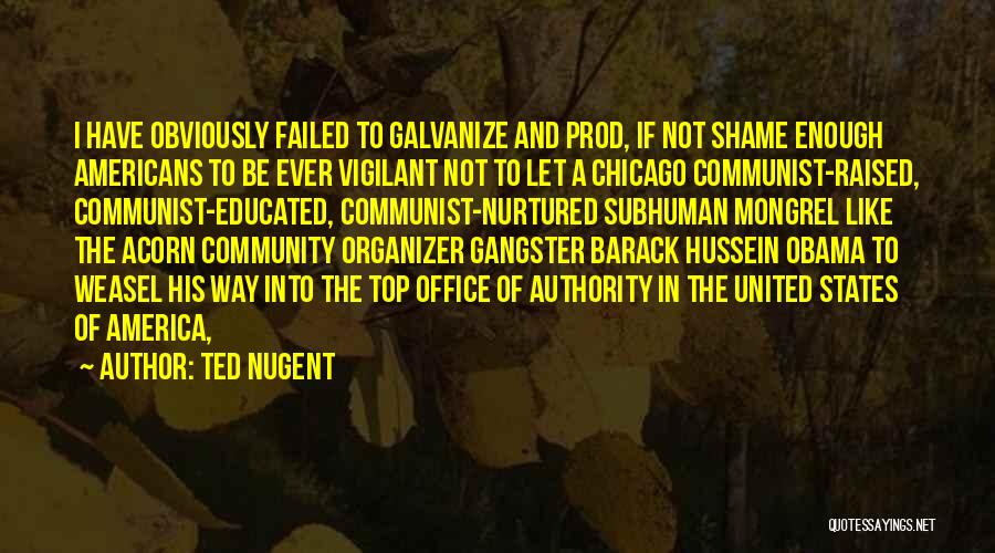 Community Organizer Quotes By Ted Nugent