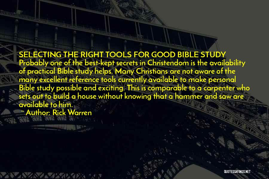 Comparable Quotes By Rick Warren