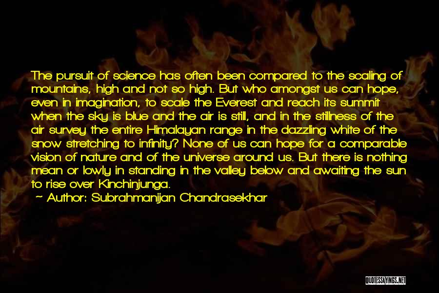 Comparable Quotes By Subrahmanijan Chandrasekhar