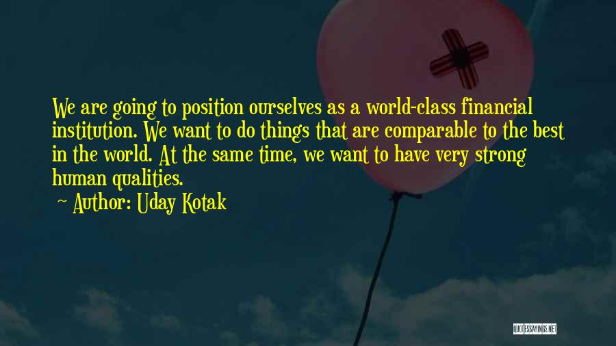 Comparable Quotes By Uday Kotak