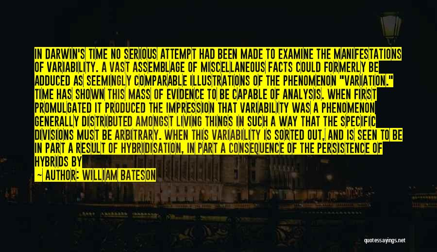 Comparable Quotes By William Bateson