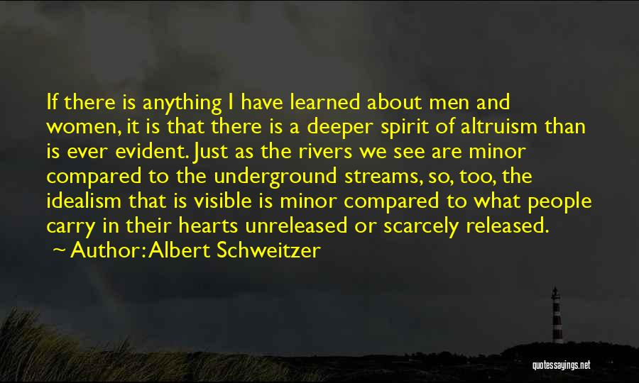 Compared Quotes By Albert Schweitzer