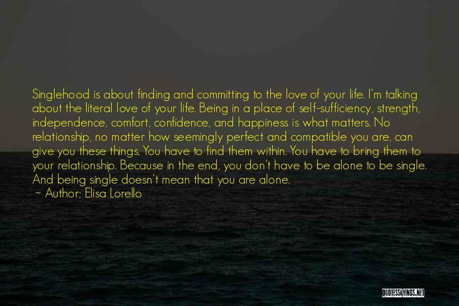 Compatible Love Quotes By Elisa Lorello