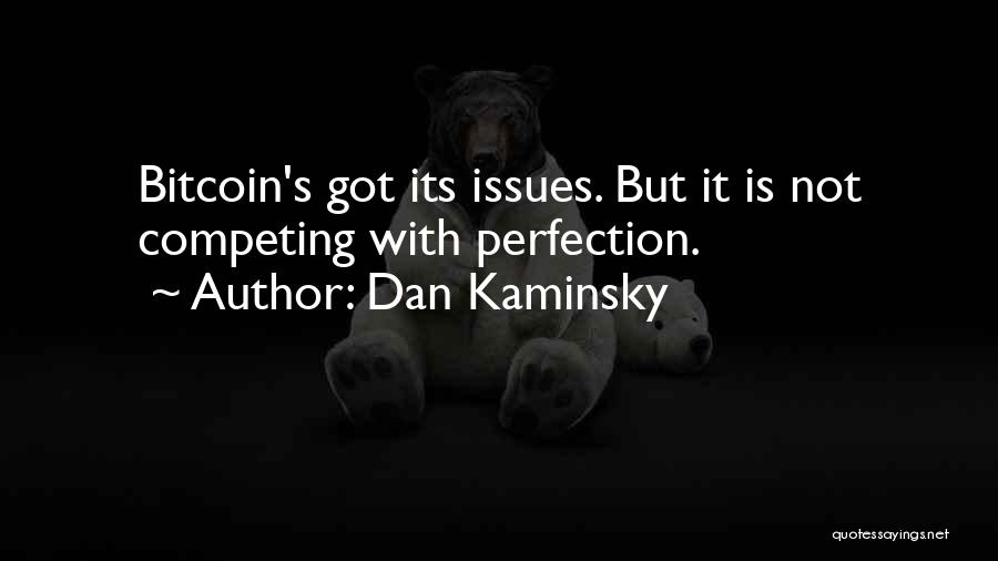 Competing With An Ex Quotes By Dan Kaminsky