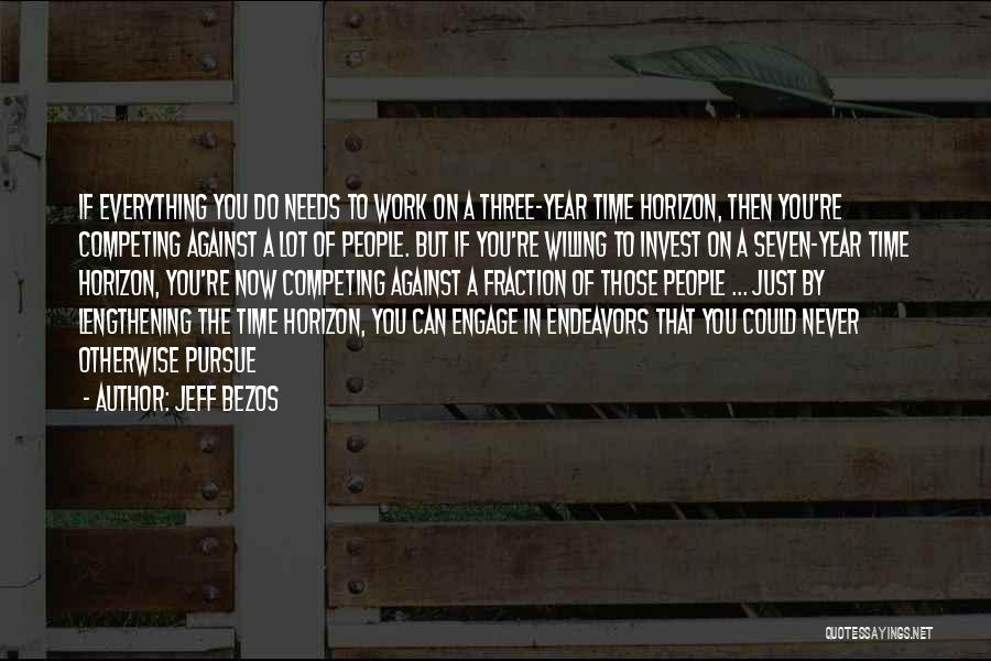 Competing With Others Quotes By Jeff Bezos