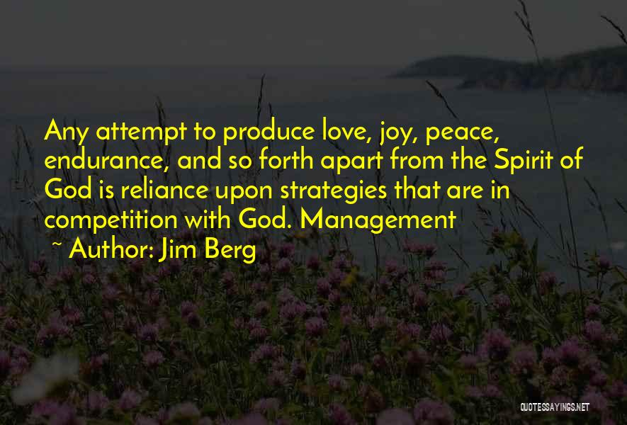 Competition In Love Quotes By Jim Berg