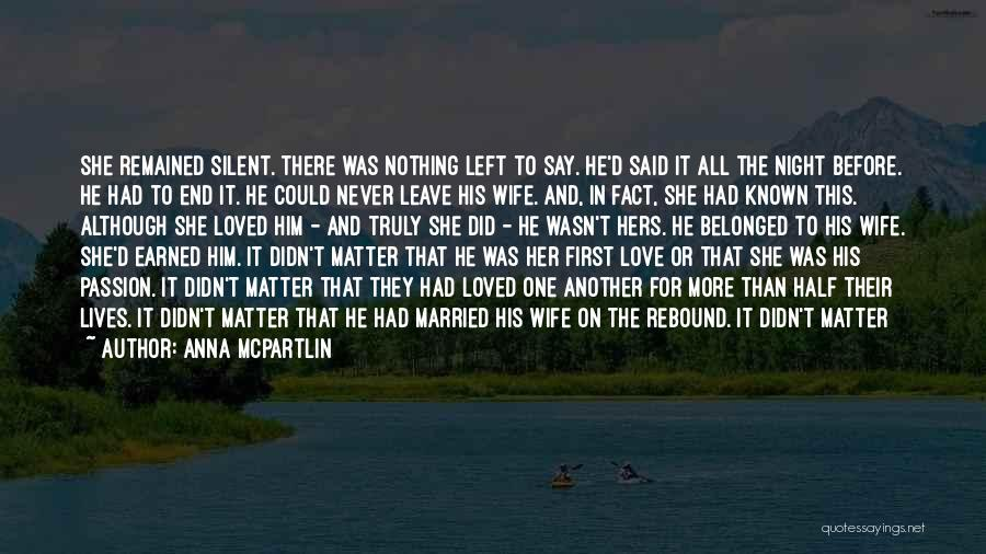 Complications In Love Quotes By Anna McPartlin
