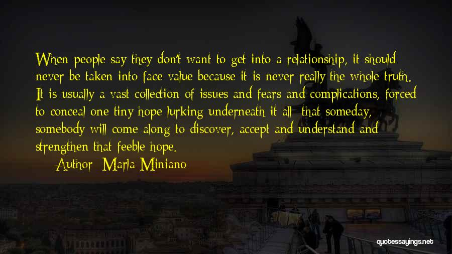 Complications In Love Quotes By Marla Miniano