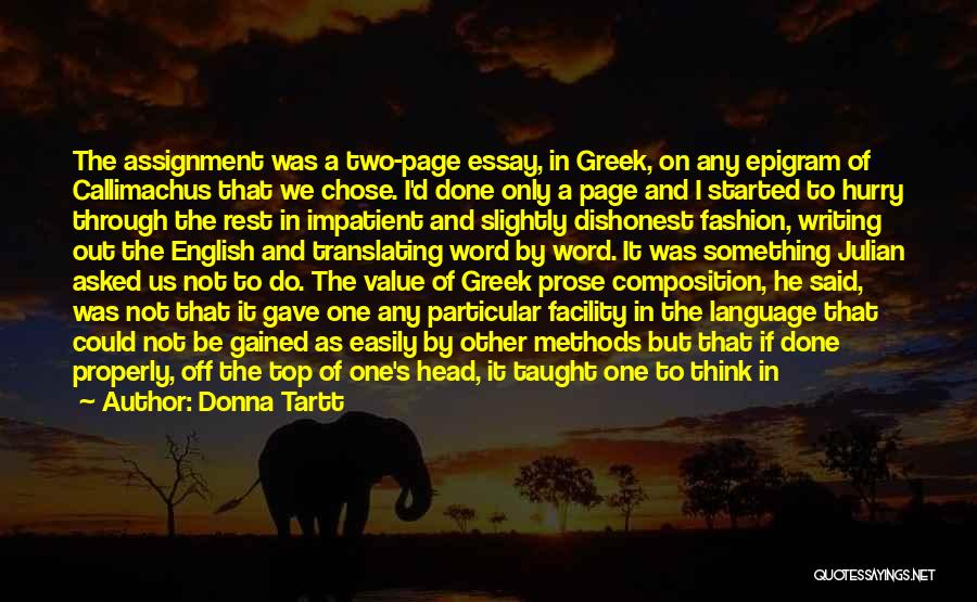 Composition Quotes By Donna Tartt