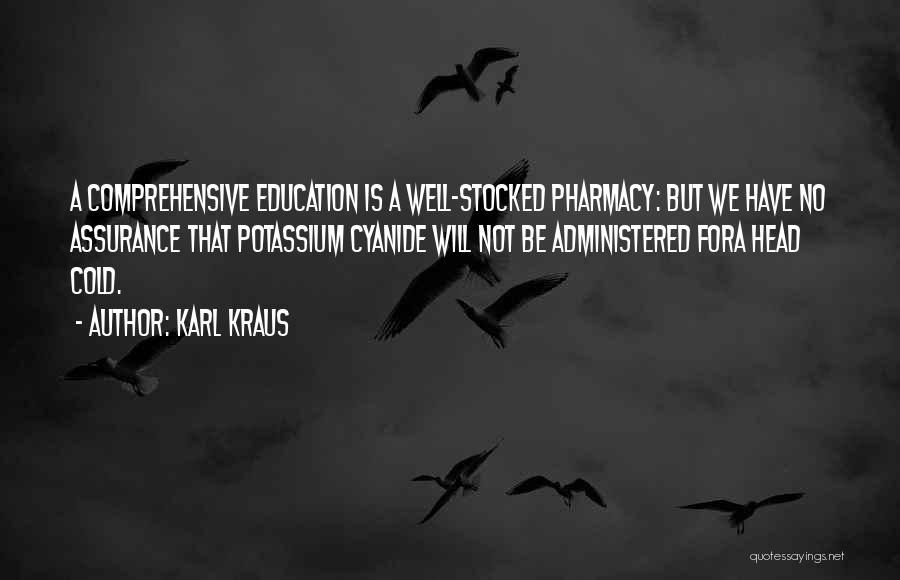 Comprehensive Education Quotes By Karl Kraus