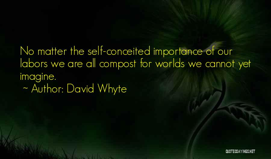 Conceited Quotes By David Whyte