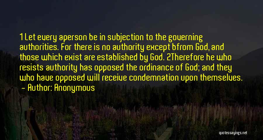 Condemnation Quotes By Anonymous