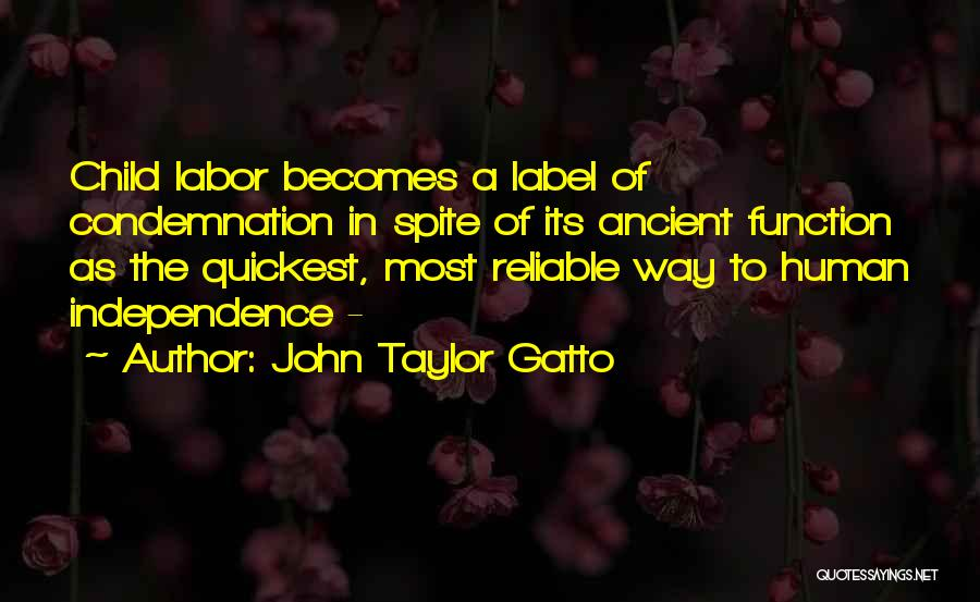 Condemnation Quotes By John Taylor Gatto