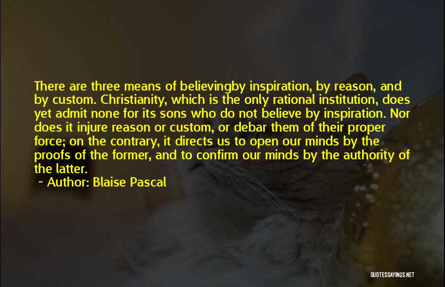Confirm Quotes By Blaise Pascal