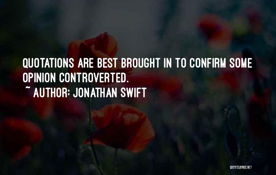 Confirm Quotes By Jonathan Swift