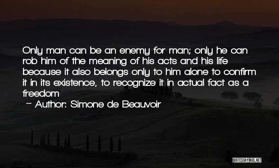 Confirm Quotes By Simone De Beauvoir