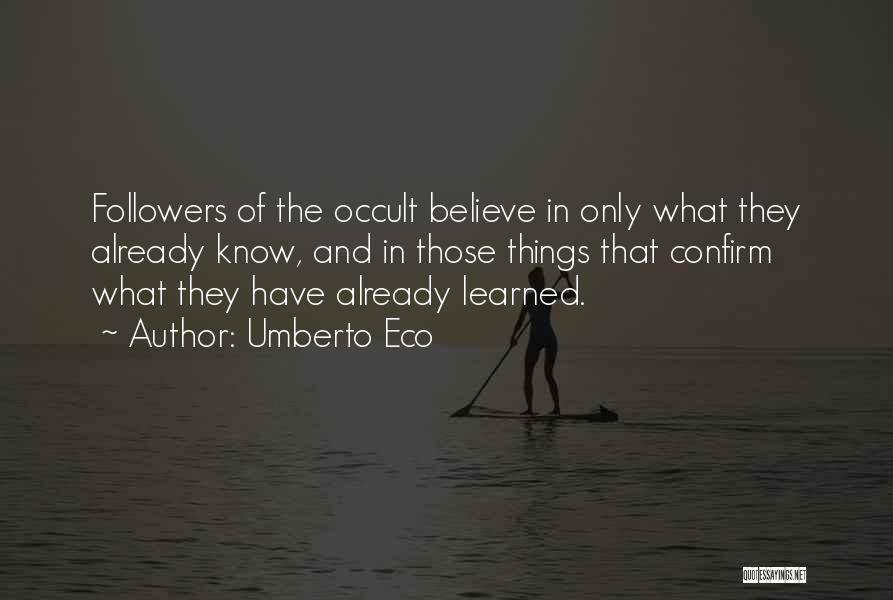 Confirm Quotes By Umberto Eco