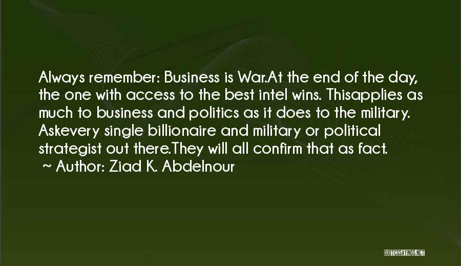 Confirm Quotes By Ziad K. Abdelnour