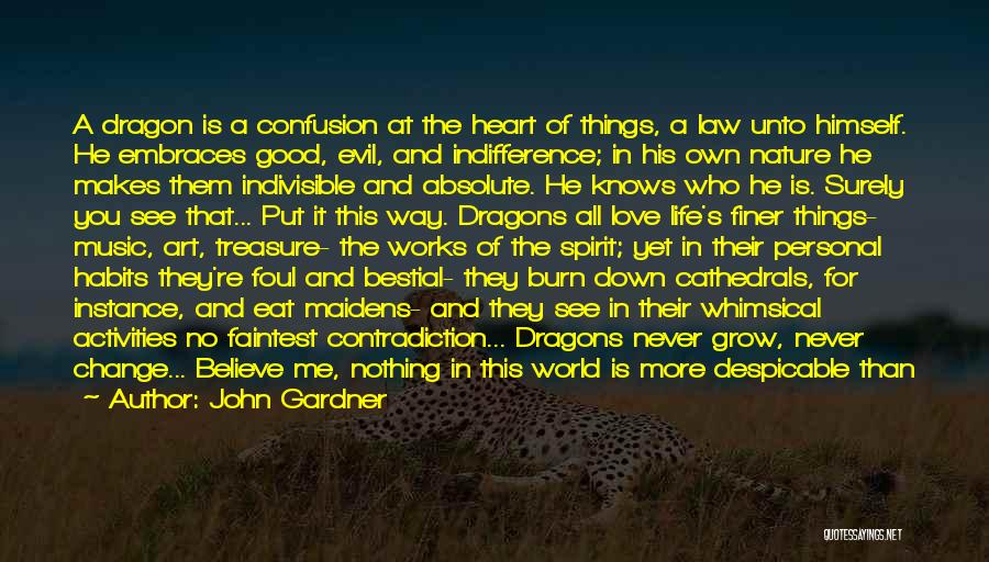 Confusion In Love And Life Quotes By John Gardner