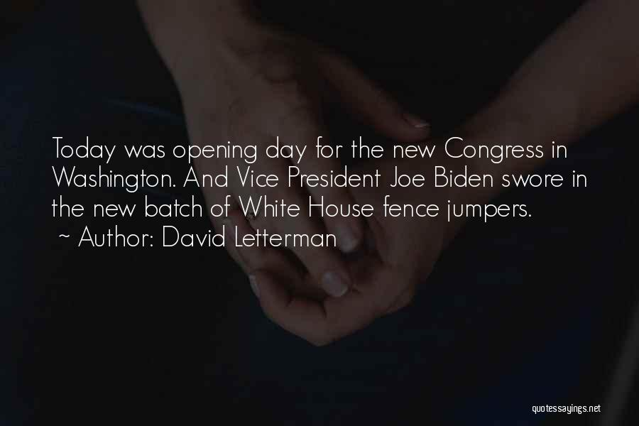 Congress Today Quotes By David Letterman