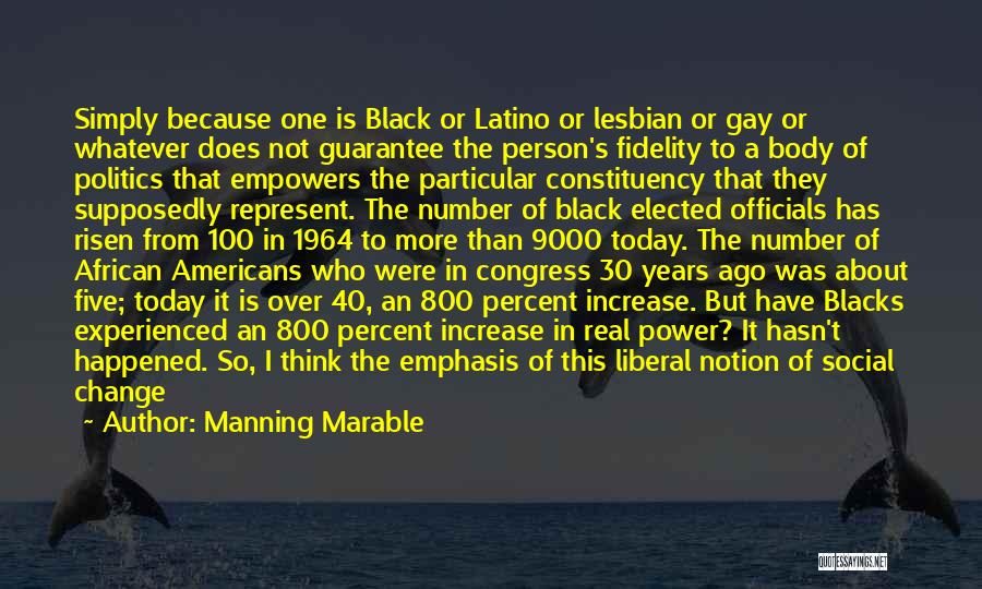 Congress Today Quotes By Manning Marable