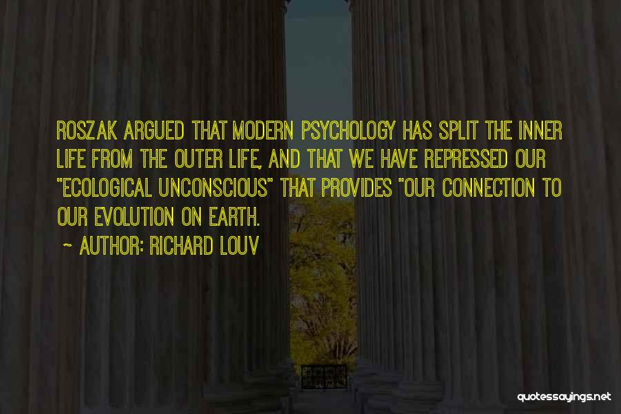 Connection To Earth Quotes By Richard Louv
