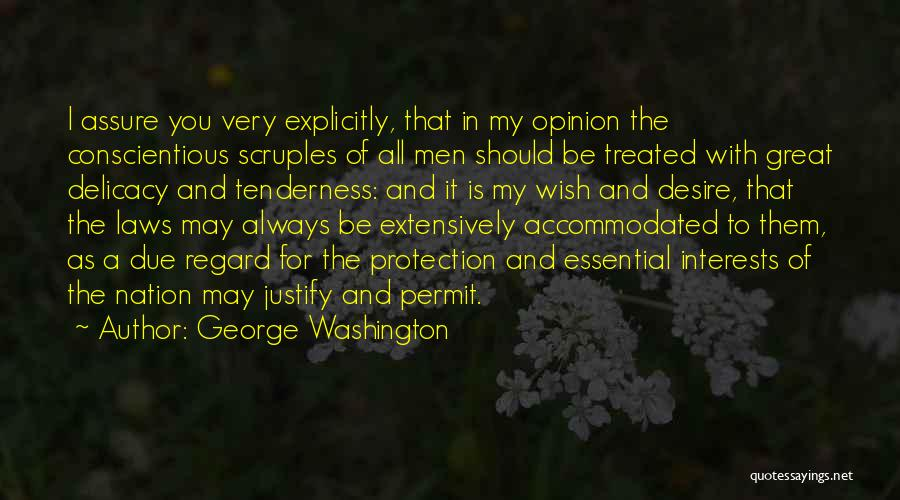 Conscientious Quotes By George Washington