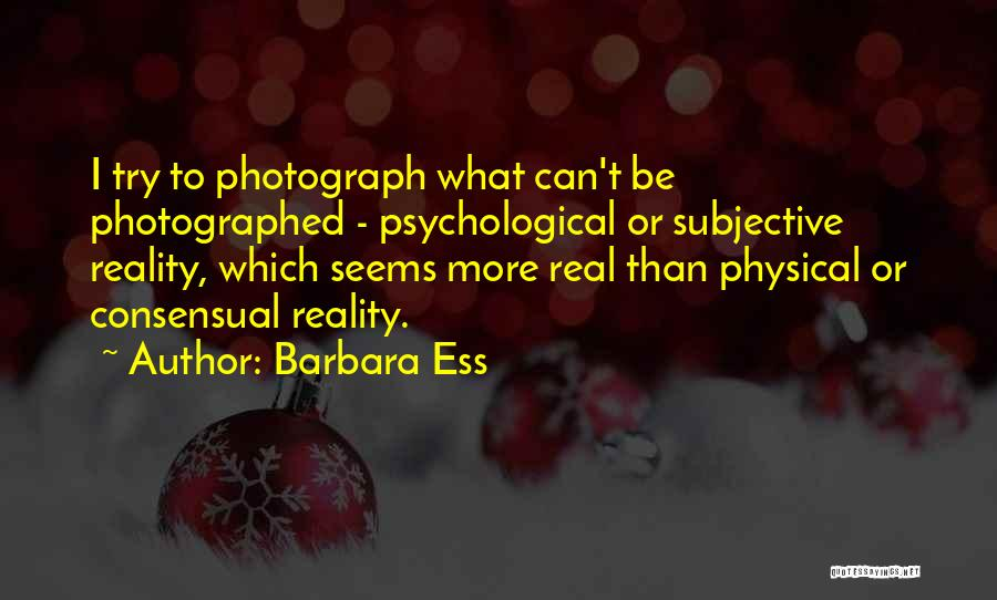 Consensual Quotes By Barbara Ess