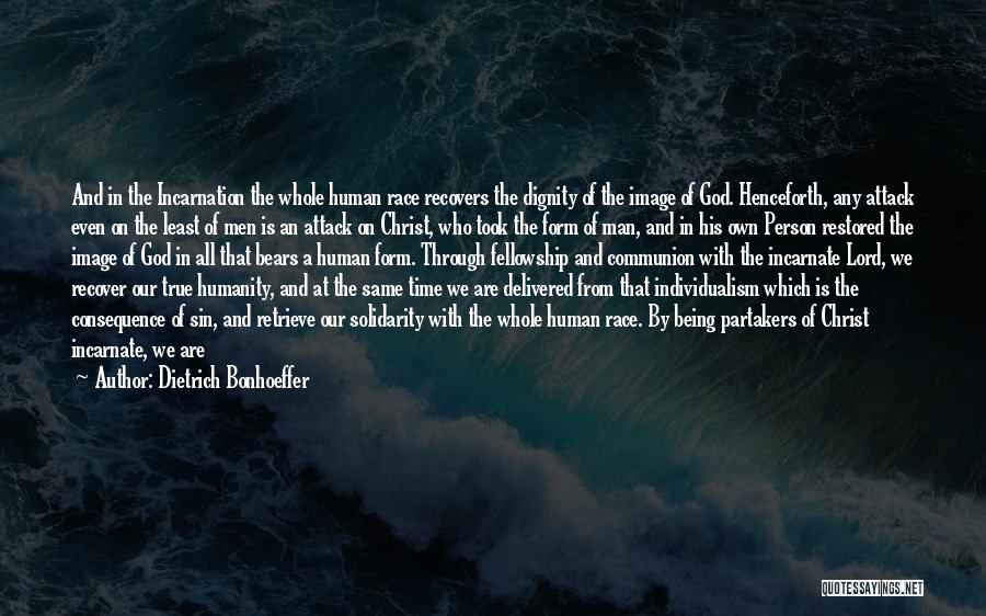 Consequence Of Sin Quotes By Dietrich Bonhoeffer