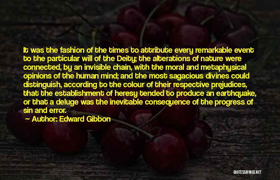 Consequence Of Sin Quotes By Edward Gibbon