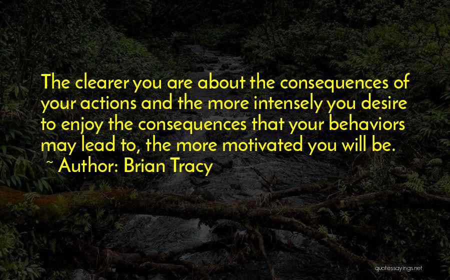 Consequences Of Your Actions Quotes By Brian Tracy