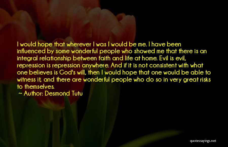 Consistent Relationship Quotes By Desmond Tutu