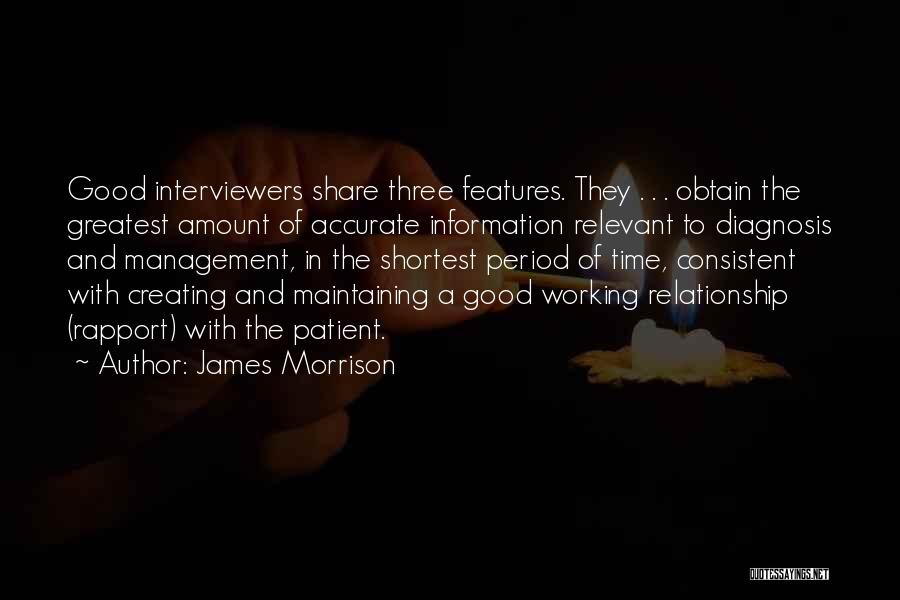 Consistent Relationship Quotes By James Morrison