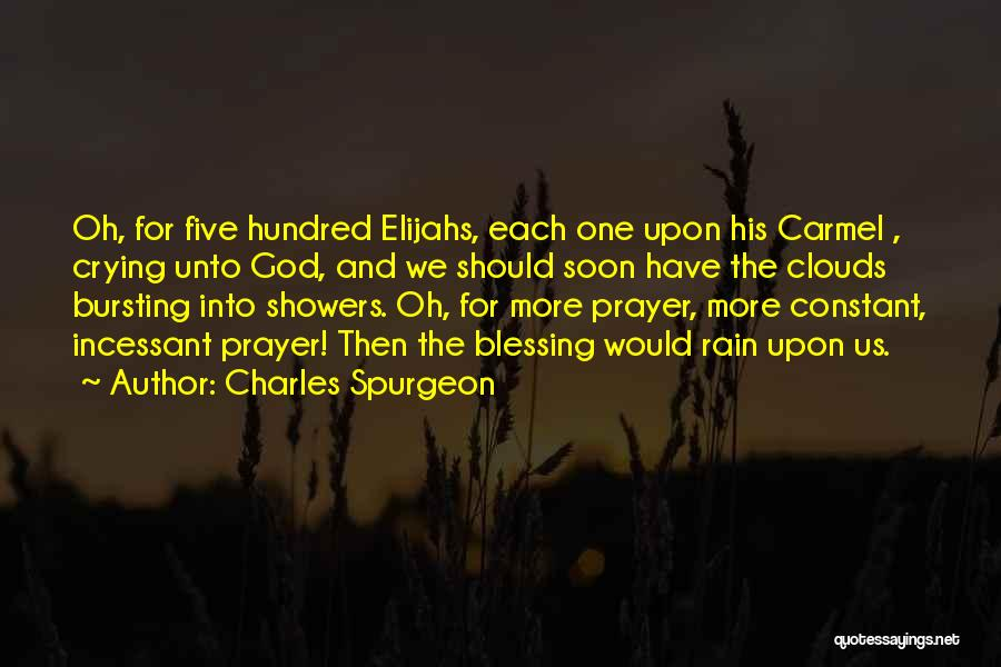 Constant Prayer Quotes By Charles Spurgeon