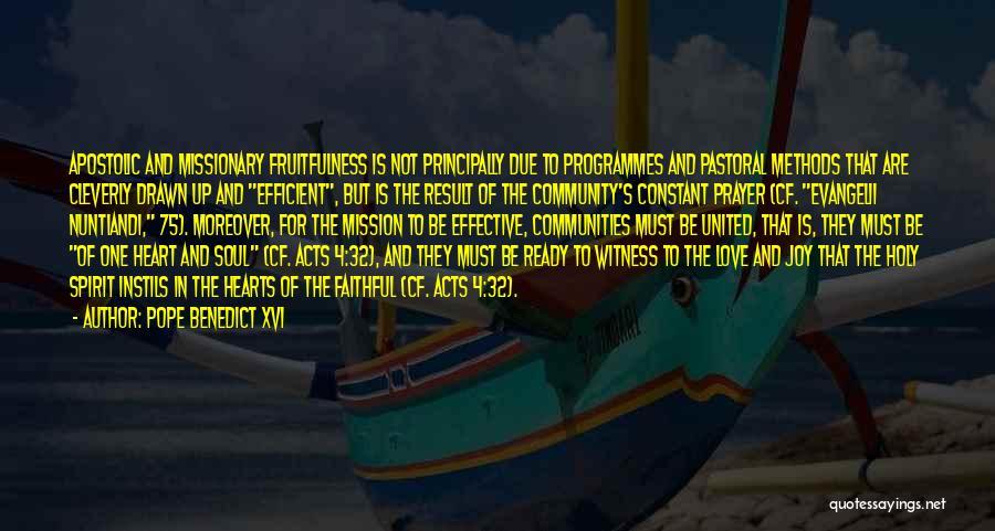 Constant Prayer Quotes By Pope Benedict XVI