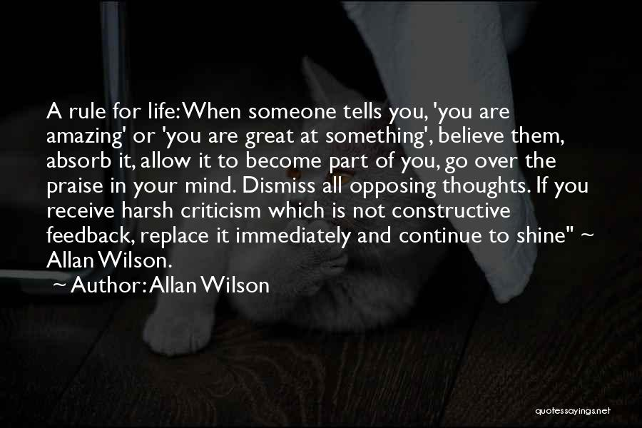 Constructive Criticism Quotes By Allan Wilson