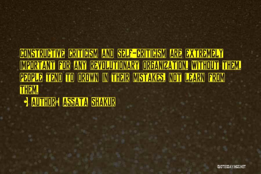 Constructive Criticism Quotes By Assata Shakur