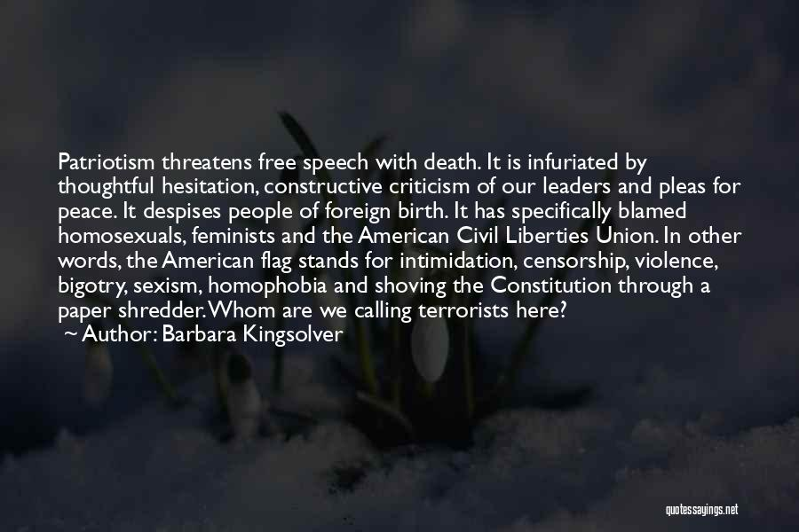 Constructive Criticism Quotes By Barbara Kingsolver