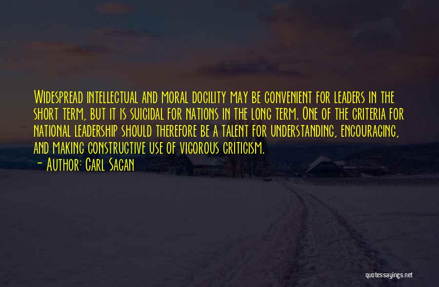 Constructive Criticism Quotes By Carl Sagan