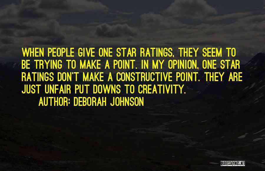 Constructive Criticism Quotes By Deborah Johnson