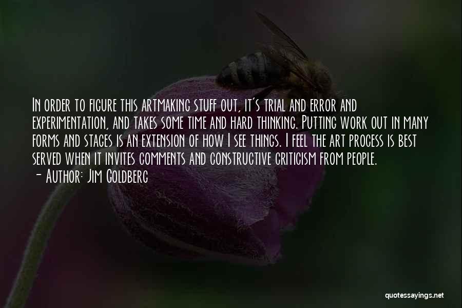 Constructive Criticism Quotes By Jim Goldberg