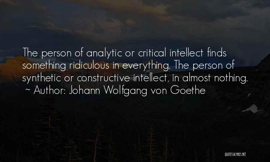 Constructive Criticism Quotes By Johann Wolfgang Von Goethe