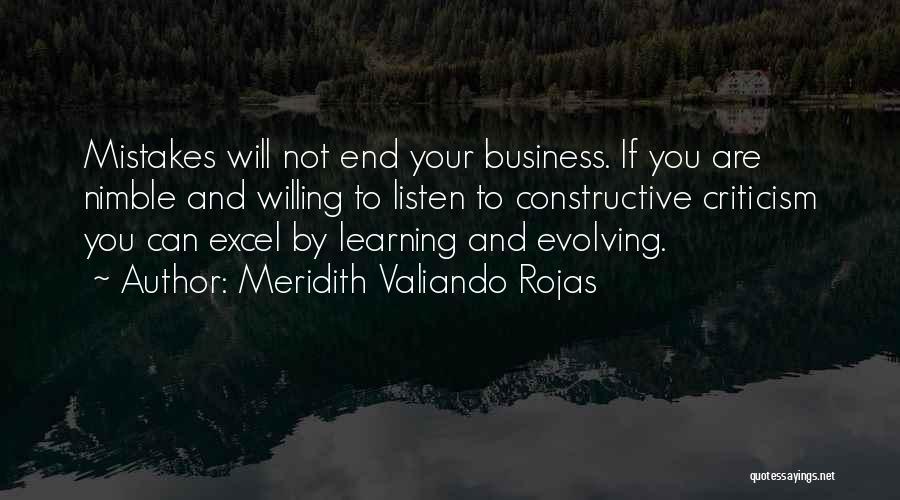 Constructive Criticism Quotes By Meridith Valiando Rojas